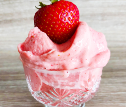 Plant based Strawberry Nice Cream