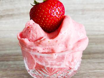 Plant based strawberry ice cream